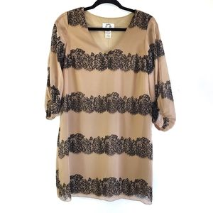 Sweet Storm Lace Trim Dress
